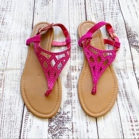 Rampage Shoes - **5/$20** Rampage Rhinestone Embellished Sandals